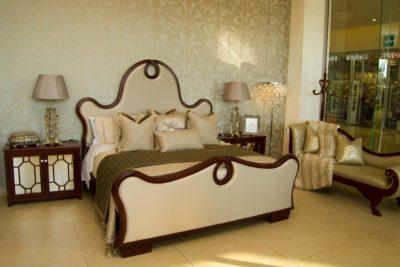 Dna Rocha Bedroom suite with Trellis Pedestals