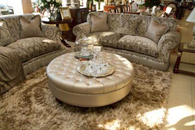 1200 Round coffee Table Ottoman